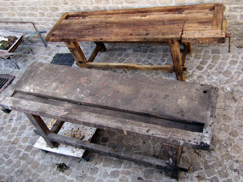 Tavoli Da Lavoro Vecchi : Restauro di un vecchio tavolo da lavoro edilizia e restauri geco